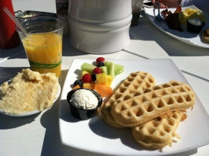 waffles and cheese grits
